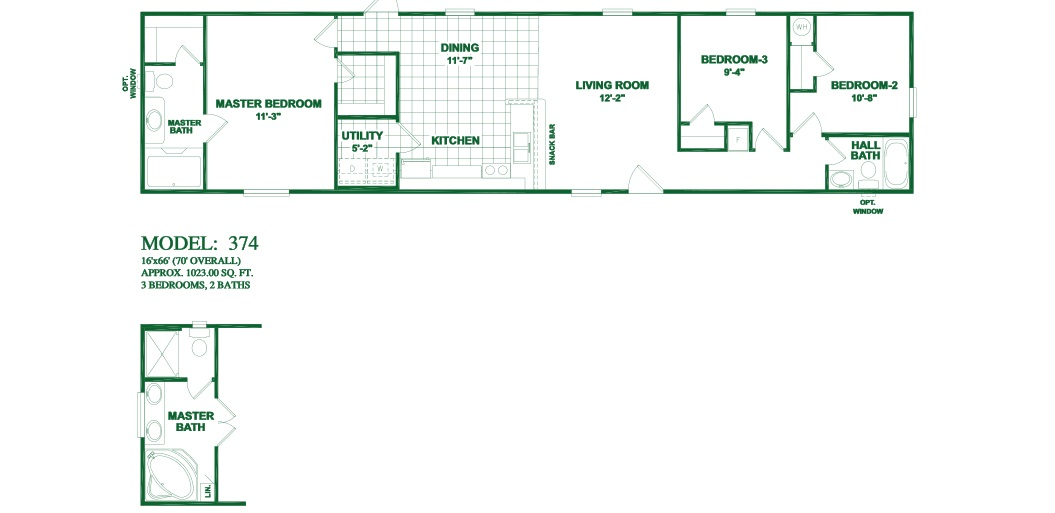 2002 fleetwood manufactured home floor plans for 3 rooms for 1999