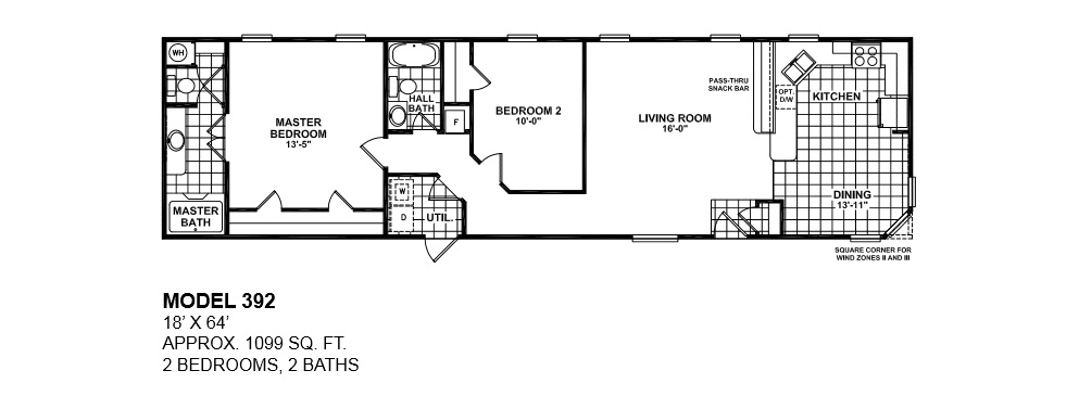 2 Bedroom Mobile Home Floor Plans floorplans photos oak creek manufactured homes - manufactured