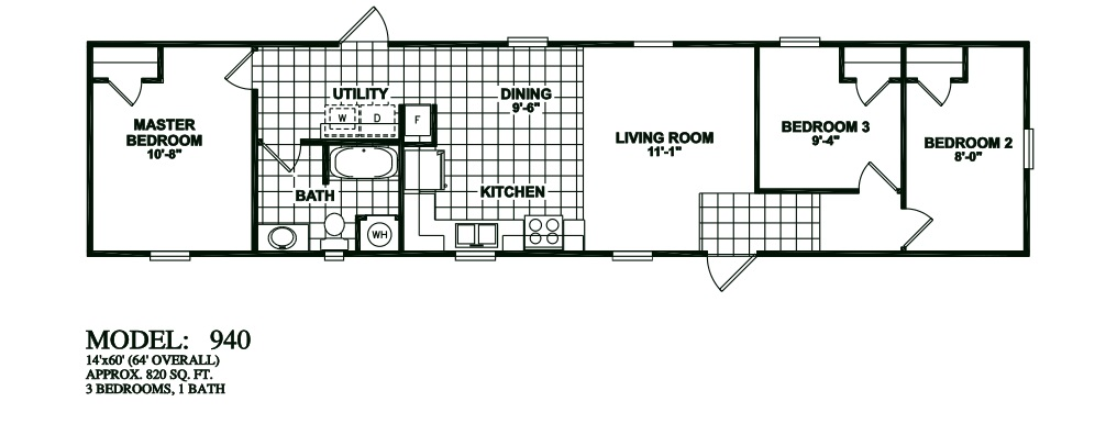 Floorplans photos oak creek manufactured homes for 3 bedroom modular home floor plans